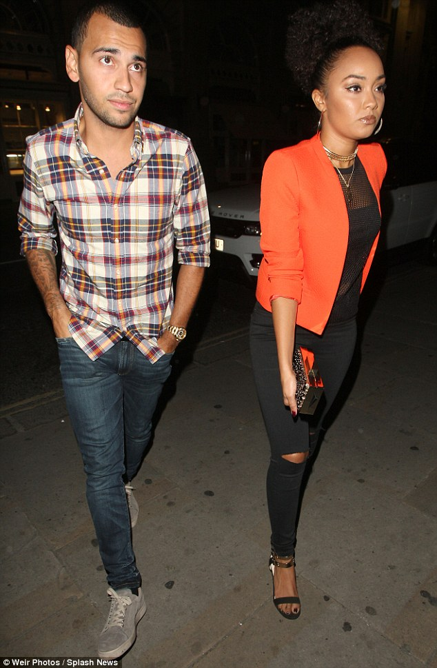 Letting off Steam! Leigh-Anne was joined at the bar by boyfriend Jordan Kiffin