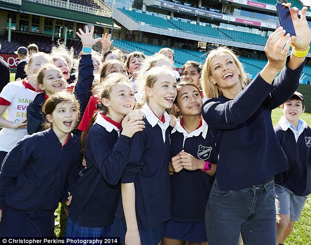 Just Be Your Selfie: Sarah Murdoch headed to the Step-a-thon for Kids marathon on Tuesday