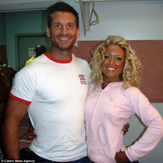 Cain Leathem with one of his clients, female bodybuilder Claire Adams. Leathem, of Druids Heath, Birmingham, is the founder of GB Fitness and spent five years as an RAF aircraft weapons technician