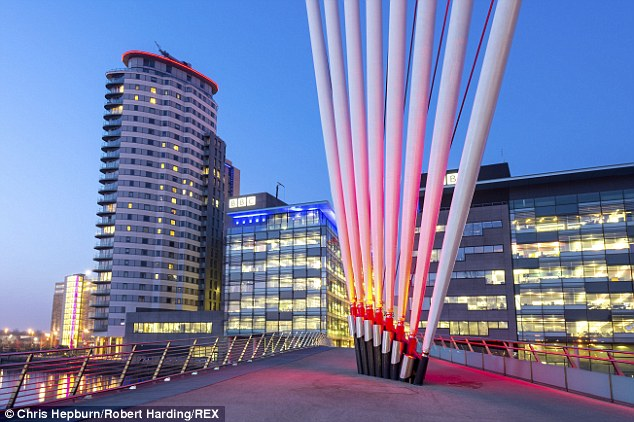 Digital creativity: The MediaCity complex at Salford Quays, Manchester gets a mention