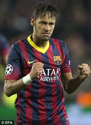 FC Barcelona's Brazilian striker Neymar