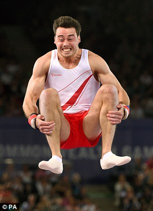 Spinning around: England's Kristian Thomas competes on the Vault