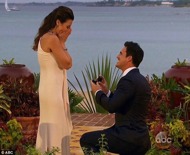 He dropped to one knee: The Atlanta native proposed to the ABC star and she seemed shocked as she cupped her hands to her mouth
