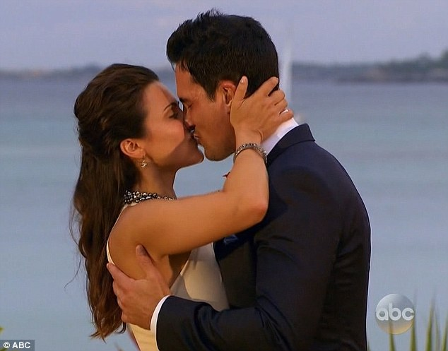 That's a yes: The TV star accepted the proposal and sealed the engagement with a kiss on the lips