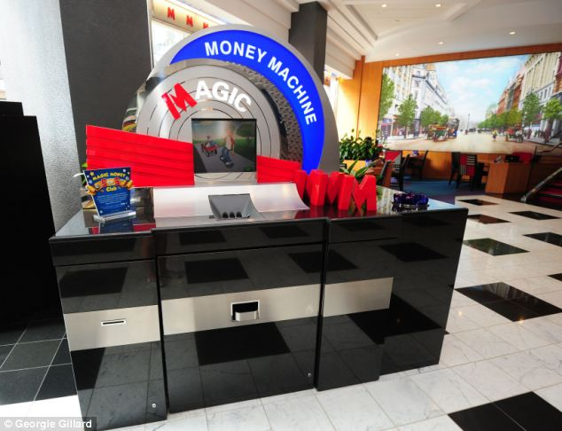 Metro Bank, Holborn: Metro Bank's Magic money machine is designed to count change so customers can exchange the amount for notes at the cash desk