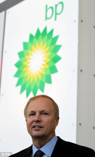 Worry: BP boss Bob Dudley is plainly concerned that his Rosneft gusher, in which the British oil major has a 20 per cent stake, will be capped.