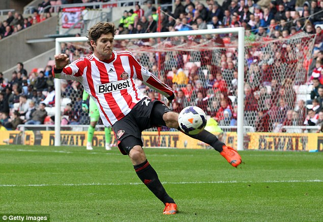 Playing hardball: Sunderland have not been able to agree personal terms with Marcos Alonso