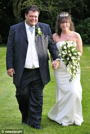 Bigamist Simon Lack, 44, married his third wife, above, when he was still married to someone else