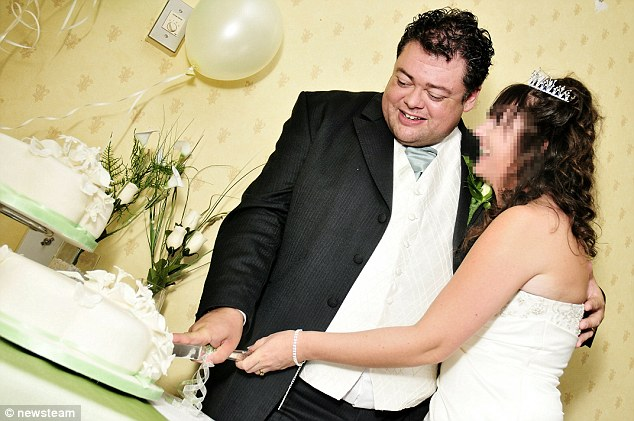 Cutting the cake: Lack's new wife married him in some style in 2008, not knowing he was still married to Tanya