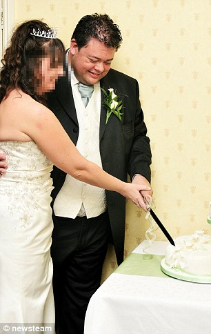 Lack, pictured during his marriage in October 2008, is currently working as a window salesman and wedding photographer