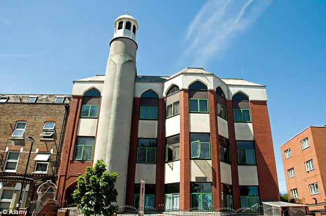 Controversial: HSBC has told a number of high profile Muslim organisations, including the Finsbury Park Mosque in north London, that it will be closing down their accounts
