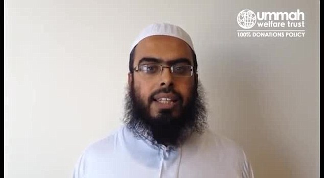 Opposition: Shaykh Muhammad Ahmad, a trustree from the Ummah Welfare Trust, has called for its supporters to join a campaign to boycott HSBC