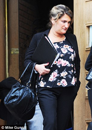Alexis Scott, pictured at Canterbury Crown Court, has been found guilty of stealing £10,000 from passengers flying from Gatwick Airport