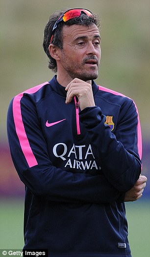 Improvement: New boss Luis Enrique will hope for a better campaign as Barcelona failed to win any silverware last season