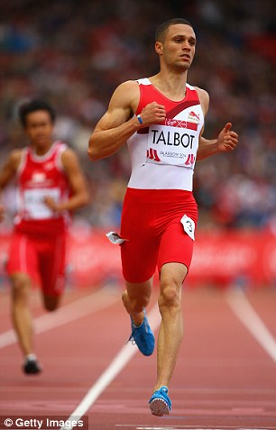 Easy: Danny Talbot appeared to ease up at the end of the race