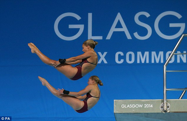 Like fish to water: Couch and Barrow were brilliant off the 10m platform at the Royal Commonwealth Pool
