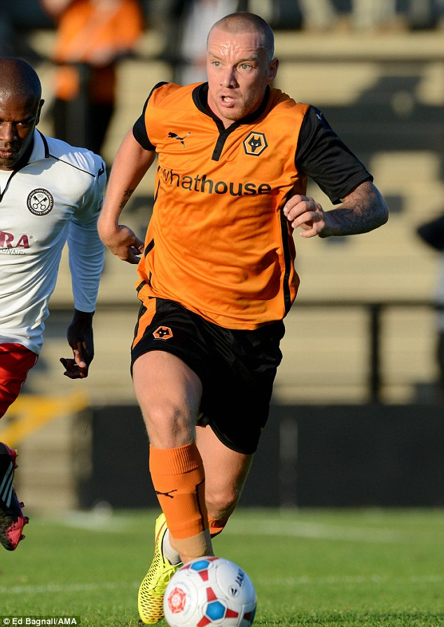 Back to work: Jamie O'Hara returned to playing football for the Wolverhampton Wanderers on Tuesday evening