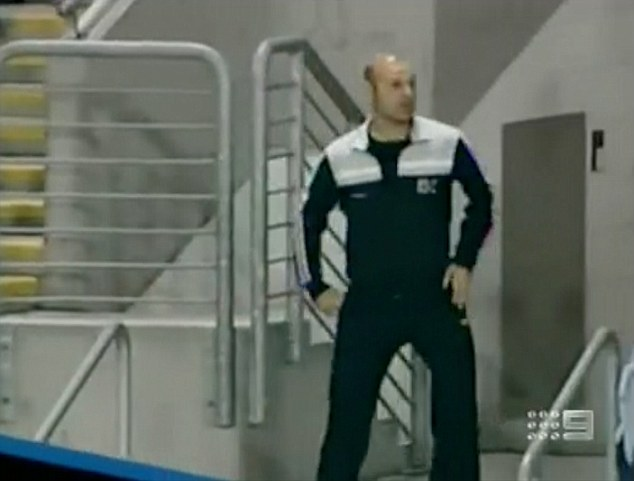 He was making his first appearance on the 'dance cam' as part of the game-day entertainment for the Canterbury Bulldogs