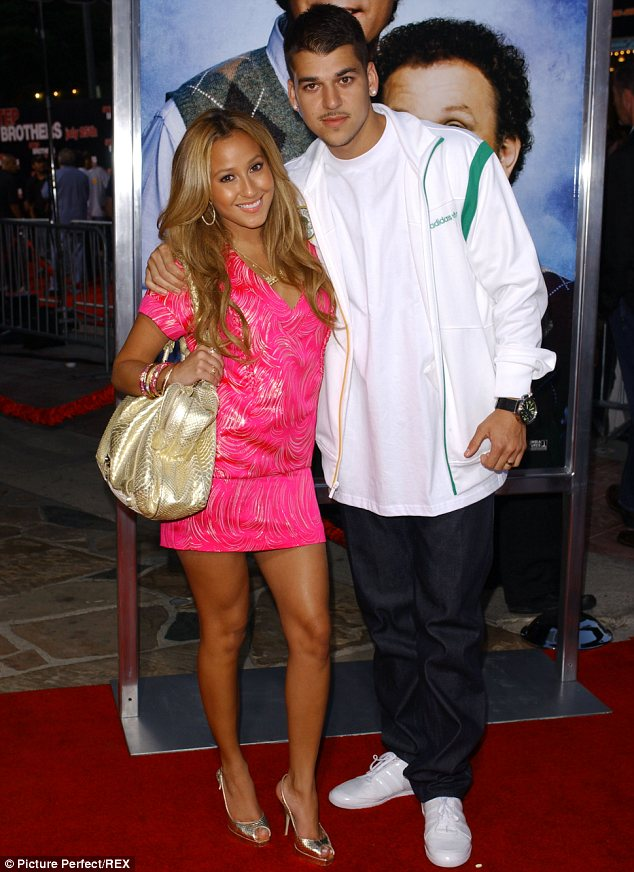 Back in the day: The Cheetah Girls star claims she ended things with Rob when he cheated on her. They are pictured here in July 2008