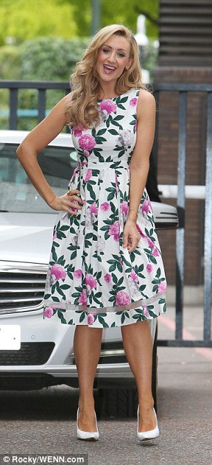 Catherine Tyldesley speaks to Lorraine about nutrition at ITV Studios