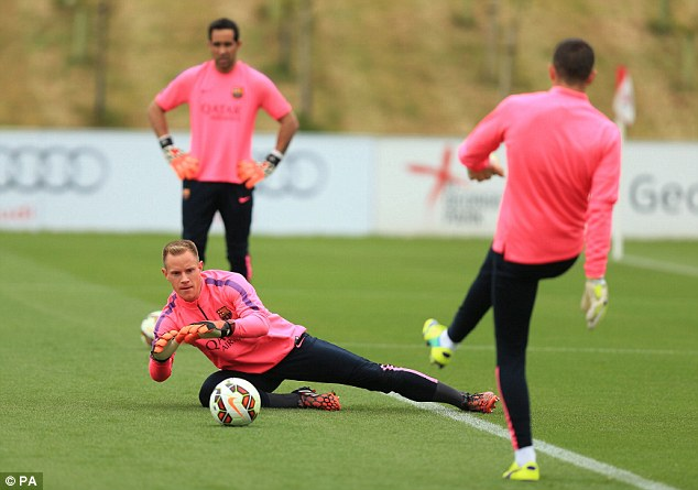 Number one? Ter Stegen is looking to hold down the starting spot in goal for Barcelona this season