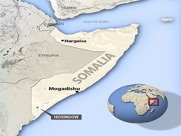 The woman was killed outside her hut near the southern Somali town of Hosingow