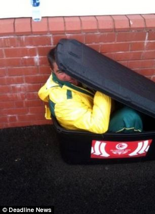 Australian lawn bowls team's coach Steve Glasson posted a picture online and called Kerkow a 'clown'