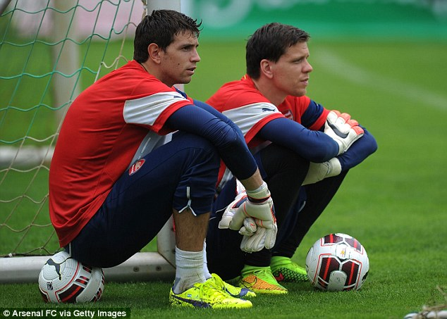 Taking a breather: Damian Martinez and Szczesny have some time off