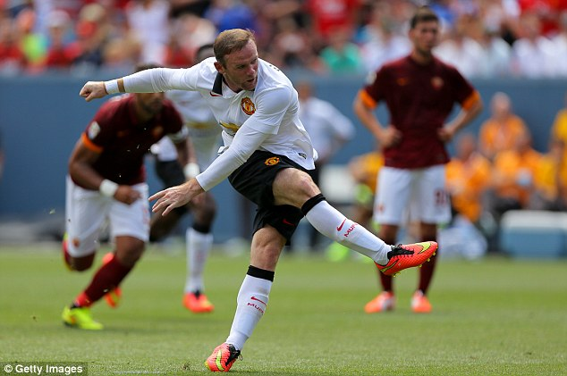 Contender: Wayne Rooney is one of the candidates for the armband at Old Trafford