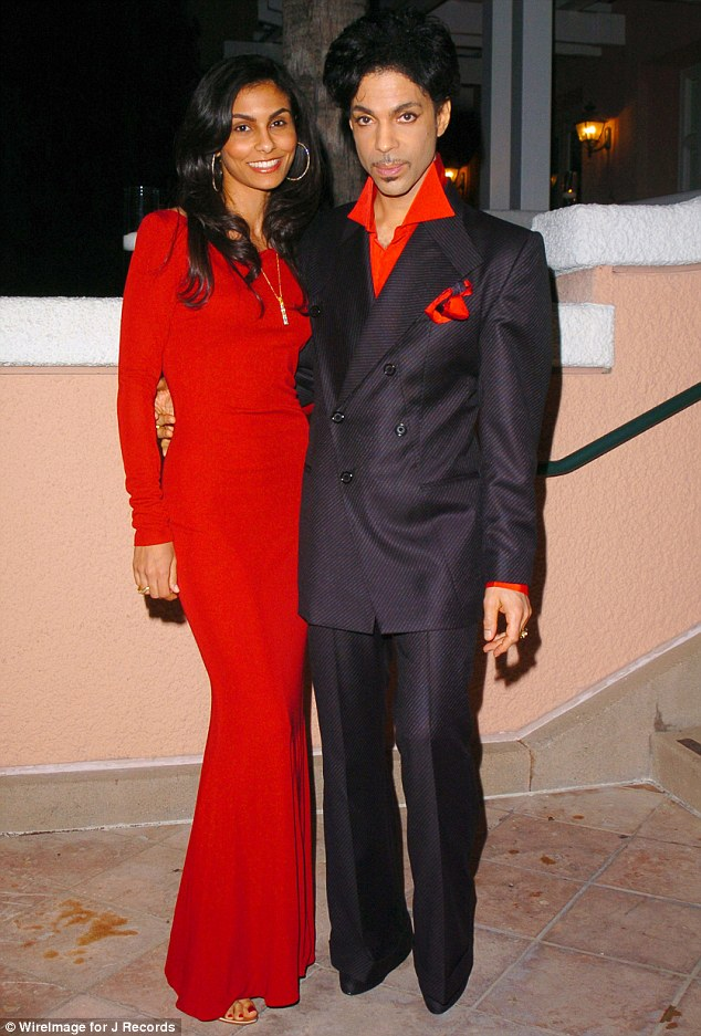 Once in love: Manuela and Prince, who were together for five years, in 2005 at a pre-Grammy cocktail party