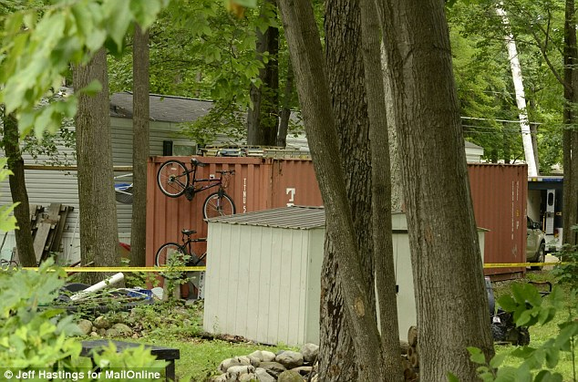 Investigation: Kibby's shipping container pictured Tuesday, just a few hours before his arraignment
