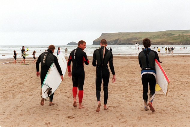 Thousands of tourists flock to Polzeath every year to make the most of the sandy beach and surfing conditions