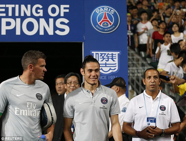Happy to stay: Edinson Cavani says he has no issues with Paris St Germain