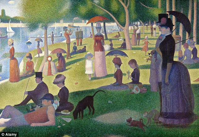 Seurat¿s ¿A Sunday Afternoon On The Island Of La Grande Jatte¿ is a famous example of pointillism