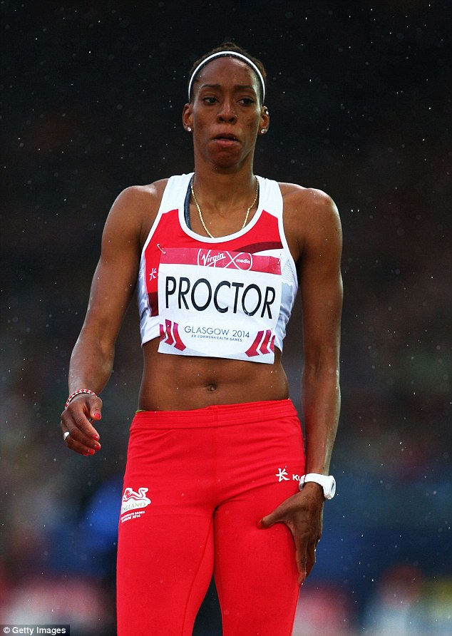 Tears: British long jump record-holder Shara Proctor pulled out of the Commonwealth final in tears