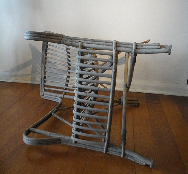 The seller wrote on the item description that he frequently found the chair on its side after hearing crying and tapping