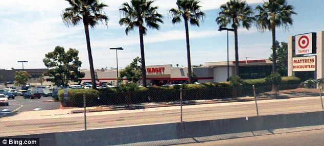 The site:The plane crashed outside this shopping center in San Diego