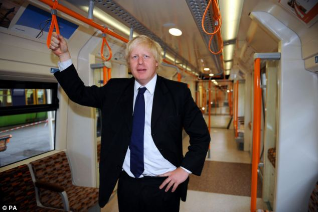 Boris Johnson's plans for a new metro-style train link in East London are based on the success of the Overground (pictured) which has brought prosperity to the suburbs