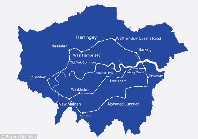 The Mayor of London's plans for a £200bn orbital railway would connect London's suburbs in zone three and beyond and even transform Barking into the next Piccadilly Circus
