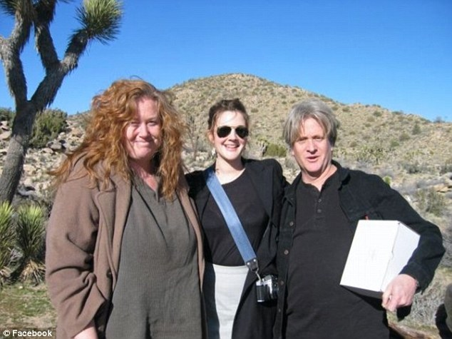Family reunion: Jessica Barrymore, Drew and their brother John Barrymore on the rare occasion they were together