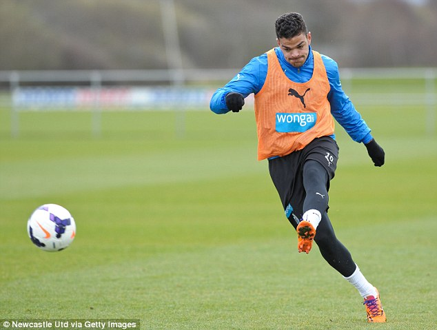 Lonely: Ben Arfa has trained with Newcastle's reserves this summer after falling out with management