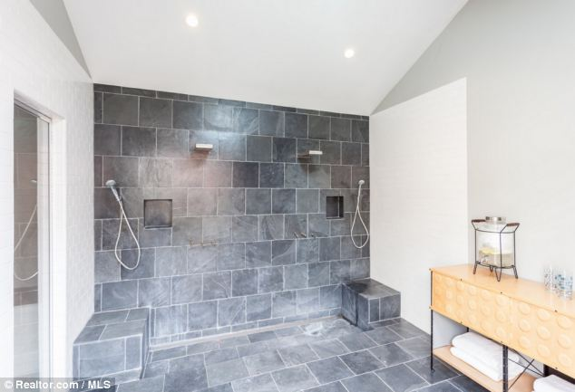 Luxury: The spa area also has double showers for after the visit to the sauna or steam room