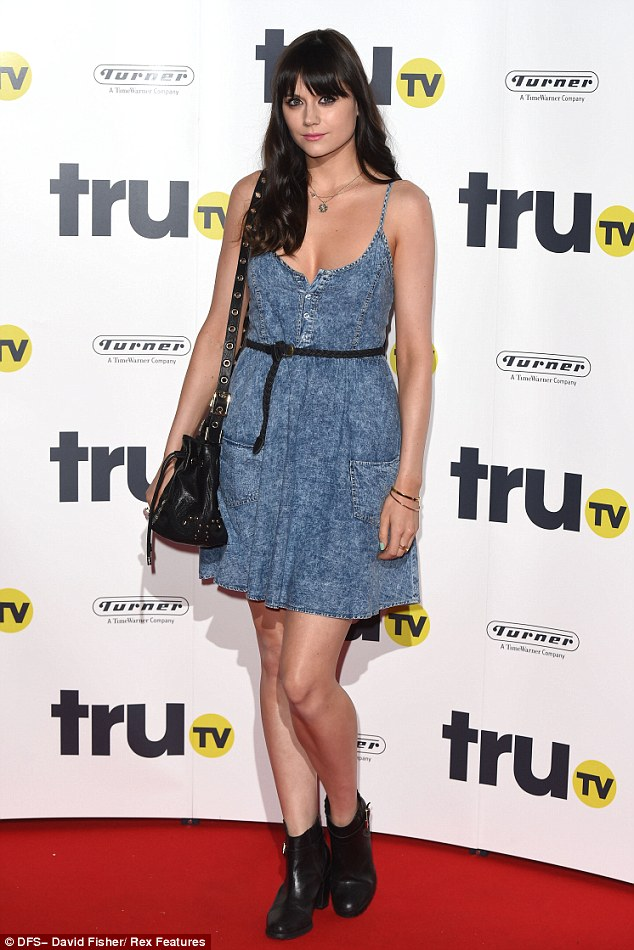 Simply stylish: MTV presenter Lilah Parsons worked a denim summer dress which she teamed with black accesories