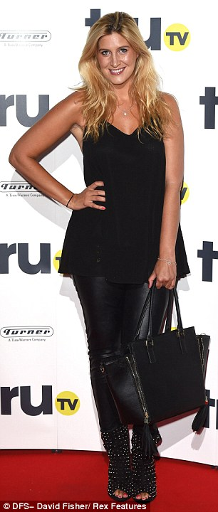 Back to black: Caggie Dunlop opted for an all-black ensemble... as did her former co-star, Cheska Hull