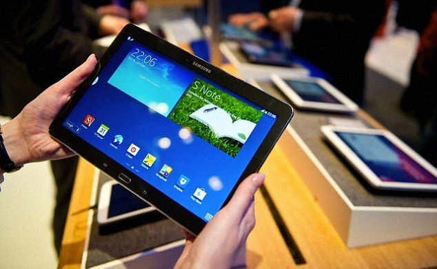 Samsung sold 95 million mobile handsets in the quarter and smartphones were close to 80 per cent of those sales. By comparison, it sold 8 million tablet PCs. The Samsung Galaxy Note 10.1 2014 is pictured