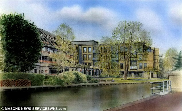 However, planners rejected the expansion plans, which campaigners claimed would, according to this artist's impression would reduce the amount of river frontage available to members of the public