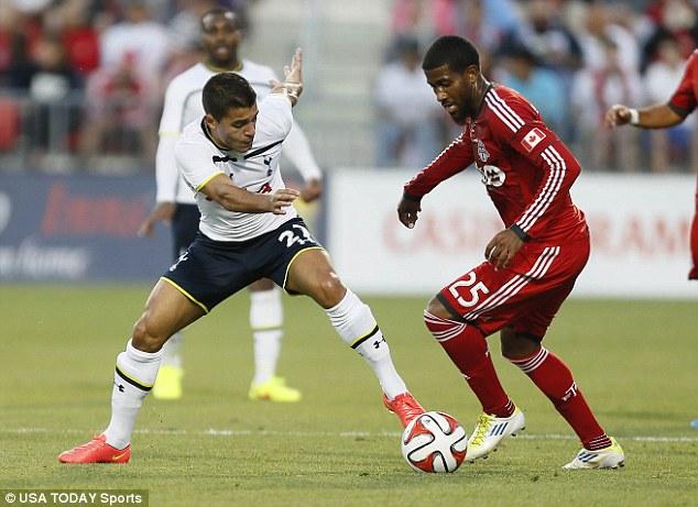 Exit: Iago Falque (left) has left Spurs for Genoa in a £4million deal