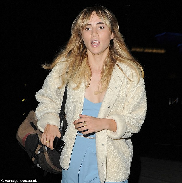 Let's eat: The model was one of a string of stars to visit the popular Marylebone venue on Thursday evening