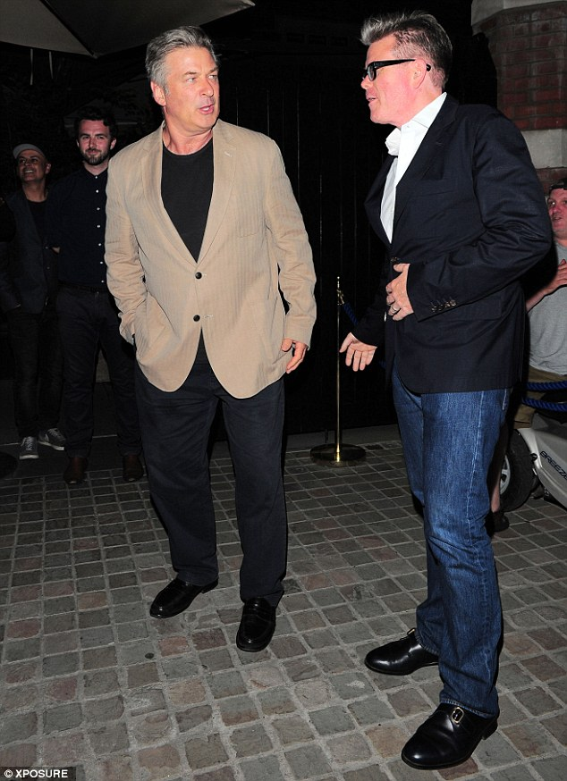 Hollywood heavyweight: American actor Alec Baldwin was amongst the guests