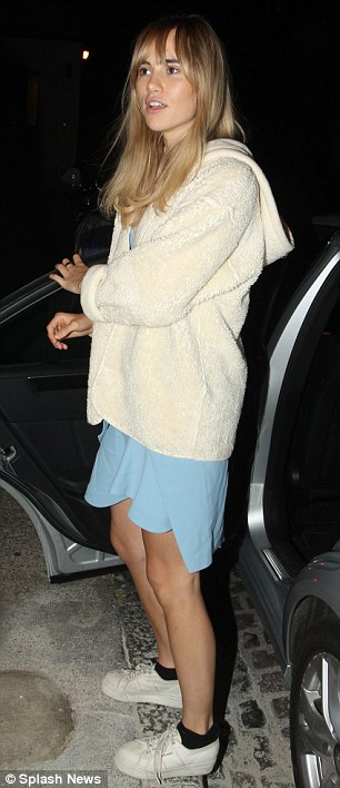 Understated: Despite opting for a no frills ensemble on the night, Suki, 22, still managed to draw attention to herself